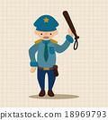 경찰관, 경관, 벡터 18969793