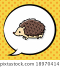 animal Hedgehog doodle, speech bubble 18970414