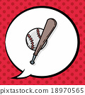 baseball doodle, speech bubble 18970565