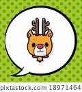 reindeer doodle, speech bubble 18971464