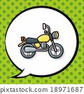motorcycle doodle, speech bubble 18971687