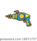toy gun doodle 18971757