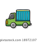 cargo truck doodle 18972107