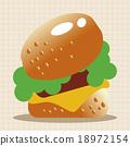 漢堡 向量圖 向量 18972154