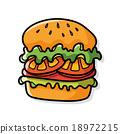 hamburger doodle 18972215
