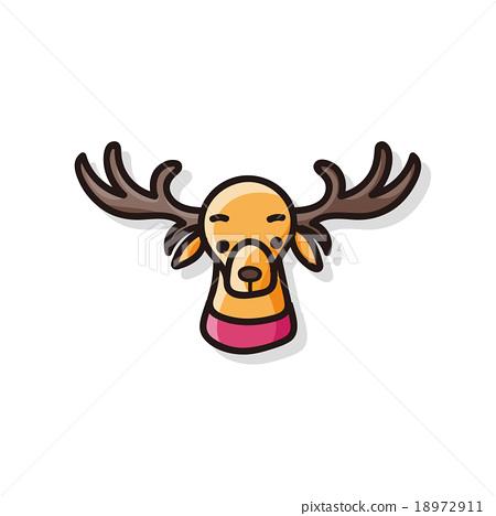 reindeer doodle 18972911