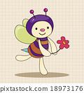 蜜蜂 矢量图 矢量 18973176