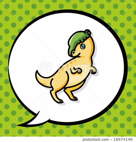dinosaur doodle, speech bubble 18974146