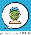 Facial mask doodle, speech bubble 18974158