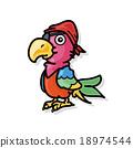 Parrot doodle 18974544
