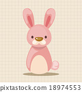 矢量 兔 兔子 18974553