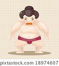 相扑 插图 矢量 18974607
