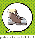 camping boot doodle, speech bubble 18974716
