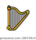 musical instrument Harp doodle 18974814