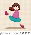 소녀, 벡터, 댄스 18975392