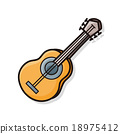 musical instrument guitar doodle 18975412