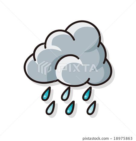 rainy cloud doodle 18975863