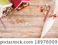 closeup of beautiful gingerbread houses at home 18976009