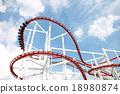 파란하늘, 놀이공원, 놀이동산 18980874