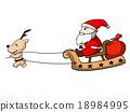 Santa Claus and deer 18984995