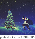 Santa Claus Christmas Tree Concept 18985705
