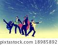 Businessmen Superheros Inspiration Leadership Success Concept 18985892