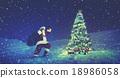 Santa Claus Christmas Tree Concept 18986058