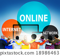 Online Network Internet Connnecting Concept 18986463