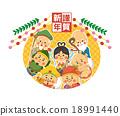 七福神 賀年片 新年賀卡 18991440