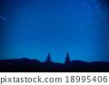 Dark blue night sky above the mystery forest 18995406