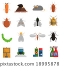 pest, icons, set 18995878