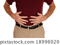 Man holding his stomach for pain. 18996020