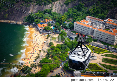 Stock Photo: Overhead cable car