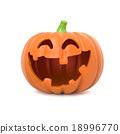 Funny Halloween pumpkin 18996770