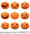 Funny Halloween pumpkins 18996773