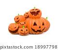 Funny Halloween pumpkins 18997798