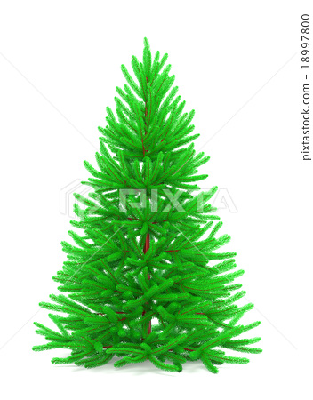 Christmas tree with colorful ornaments 18997800