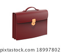 Black leather briefcase 18997802