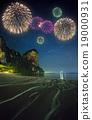 Fireworks above tropical landscape, Thailand 19000931