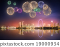 Beautiful fireworks in Marina Bay, Singapore 19000934