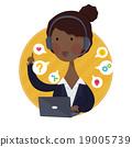 Customer Support Help Desk African American Woman  19005739