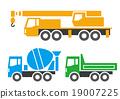 vector, vectors, concrete mixer truck 19007225