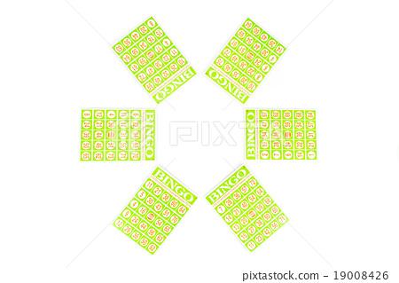six of bingo card ready to be play 19008426