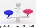 平衡 蹺蹺板 對話泡泡 19009688