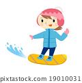 滑雪板 冬季運動 滑 19010031