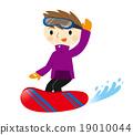 滑雪板 冬季運動 樂在其中 19010044