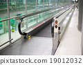 Walkways at the airport for passengers 19012032