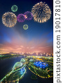 Beautiful fireworks in Marina Bay, Singapore 19017810