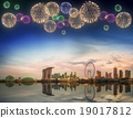 Beautiful fireworks in Marina Bay, Singapore 19017812
