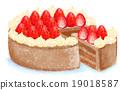巧克力蛋糕 草莓 磅裝蛋糕 19018587